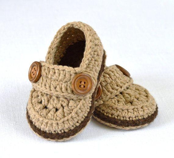 CROCHET Baby Booties PATTERN Little Loafers Easy por matildasmeadow