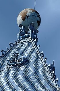 Institut d'État hongrois de géologie, Budapest. Architecture d'Ödön Lechner. Céramique de Zsolnay (définition réelle 2 583 × 4 306)