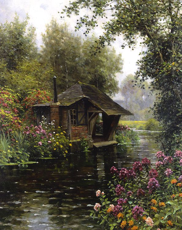 A Beaumont le Roger by French born American Painter Louis Aston Knight 1873-1948 http://www.rehsgalleries.com/louis-aston-knight-exhibit.htm?page=4&key=