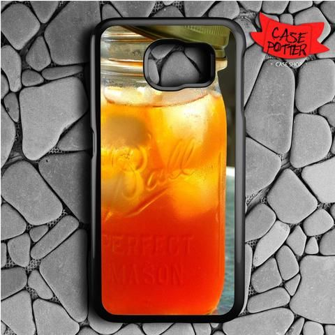 Ice Tea Ball Perfect Mason Jar Samsung Galaxy S7 Black Case