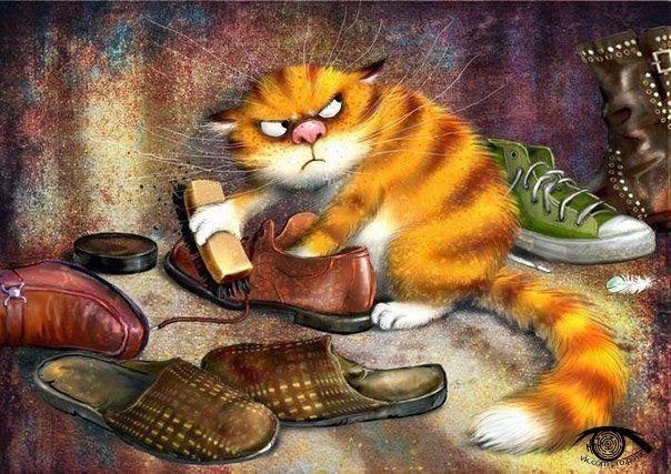 Вот этого котика я б взяла к себе жить))))Куклы и игрушки Светланы Ревво - Light Hands
