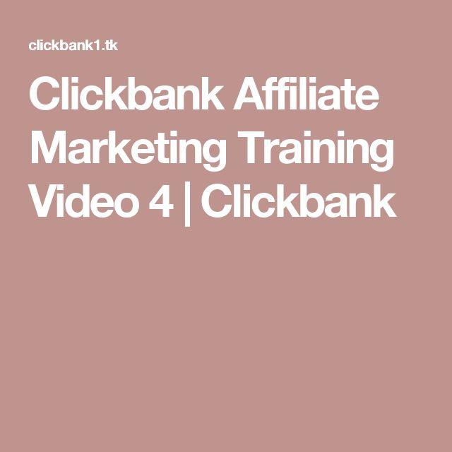 Clickbank Affiliate Marketing Training Video 4 | Сlickbank