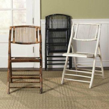 Bamboo Folding Chairs - tropical - chairs - Ballard Designs