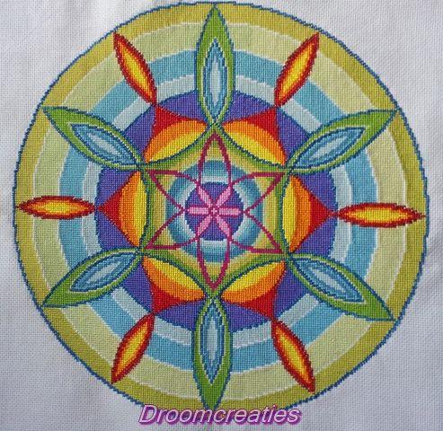 Borduurpatroon Seed of Life is geboren! Dit patroon Seed of Life staat symbool voor een nieuwe geboorte en bevat de elementen lucht, licht, water en liefde.