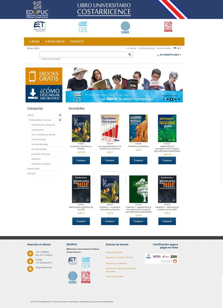 Desarrollo portal Libuc.org con Hipertexto colombia