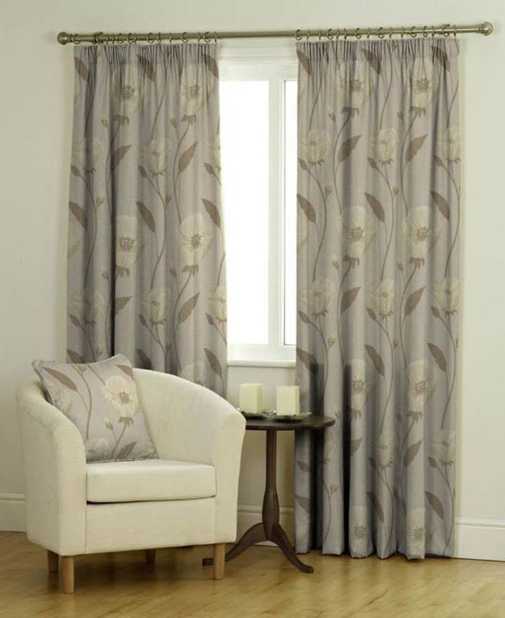"""Bonita (Latte), Cream Curtains, MADE TO MEASURE FOR EXACT FIT, Pencil Pleat (3"""" tape), Fully Lined, from 70cm width x 40cm drop to 366cm width x 380cm drop"""