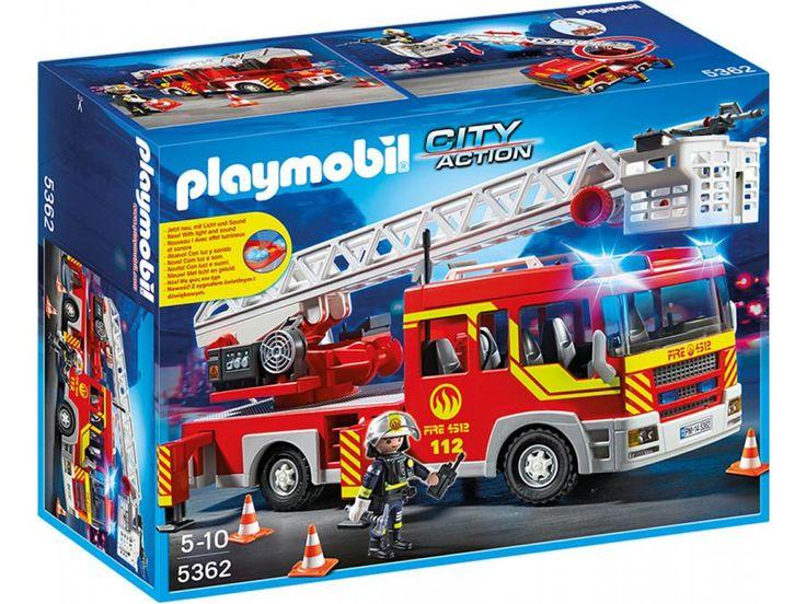 Playmobil - Camion de pompier avec échelle pivotante et sirène #jeux #jouet #puériculture #bebe #bébé #maternité #listedenaissance #naissance #cadeaunaissance ##cadeau #futuremaman #grossesse #enceinte #chambreenfant #chambrebebe #playmobil #enfant #famille
