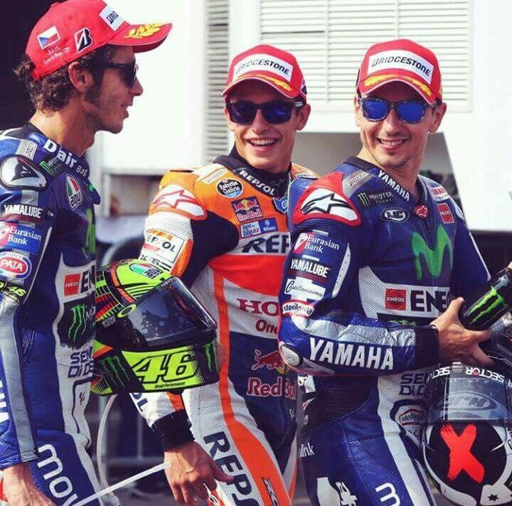 Vale, Marc Marquez & Jorge Lorenzo