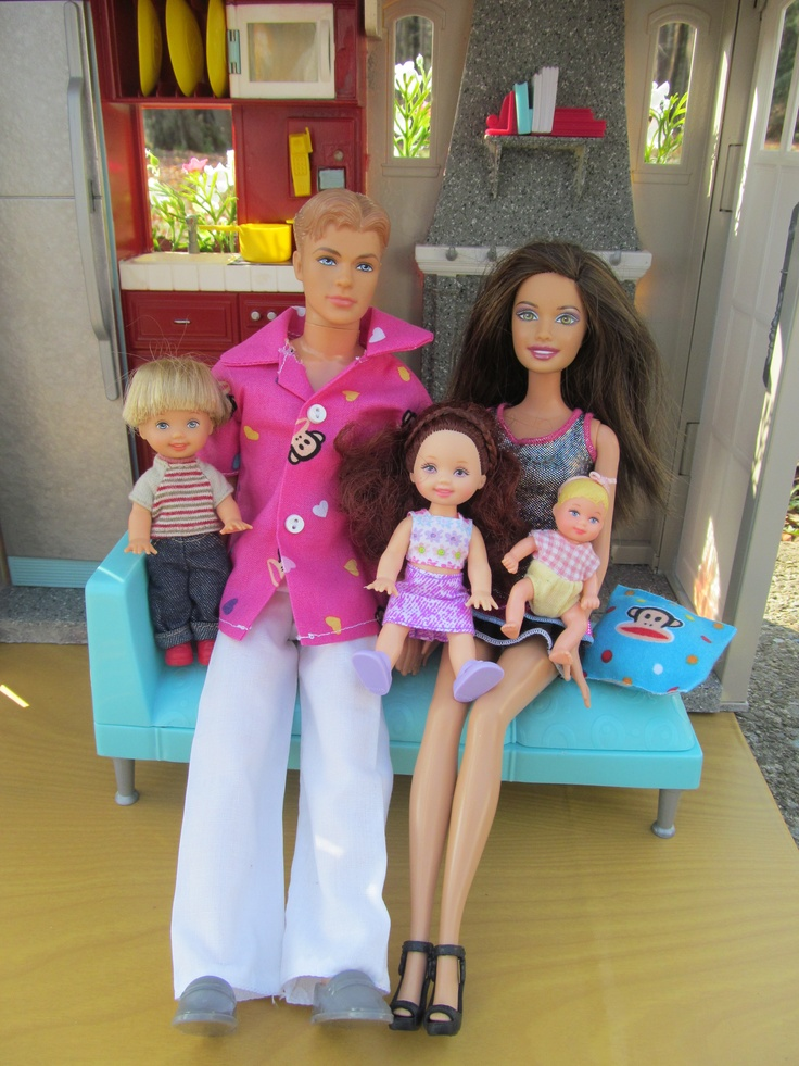 Barbie Family who lives in the Paul Frank inspired Barbie House - OOAK by BargainFancy on Ebay