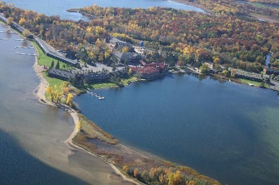 A great aerial view of Breezy Point International timeshare resort, Breezy Point, MN.
