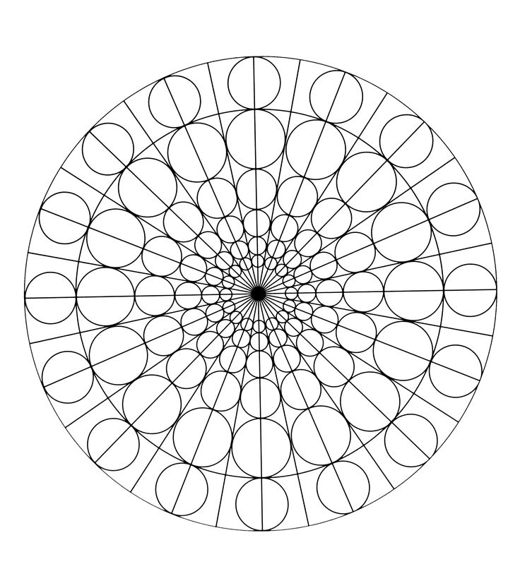 To print this free coloring page «free-mandala-to-color-circles», click on the printer icon at the right