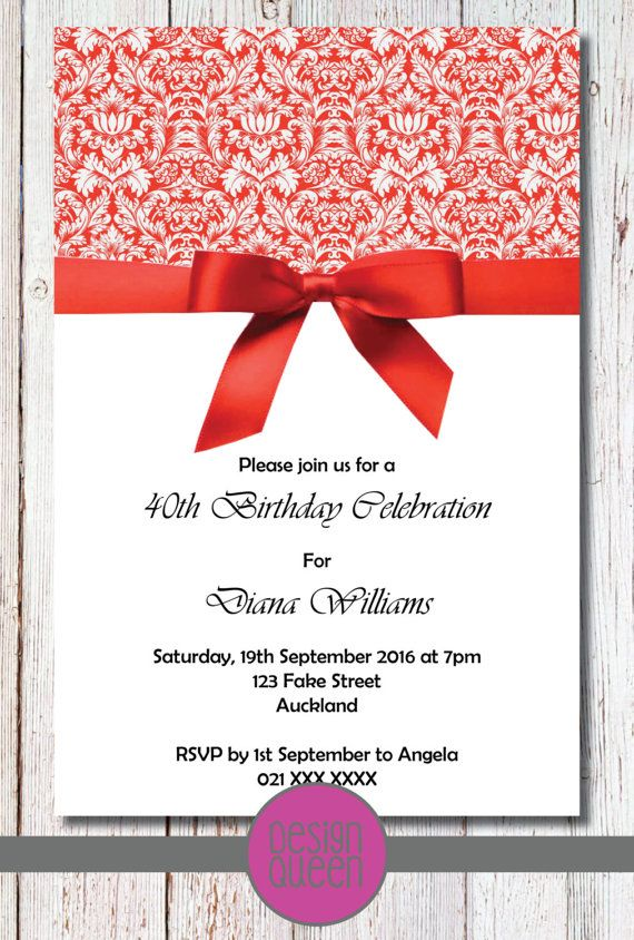Check out this item in my Etsy shop https://www.etsy.com/nz/listing/230077185/red-damask-birthday-invitation-you-print