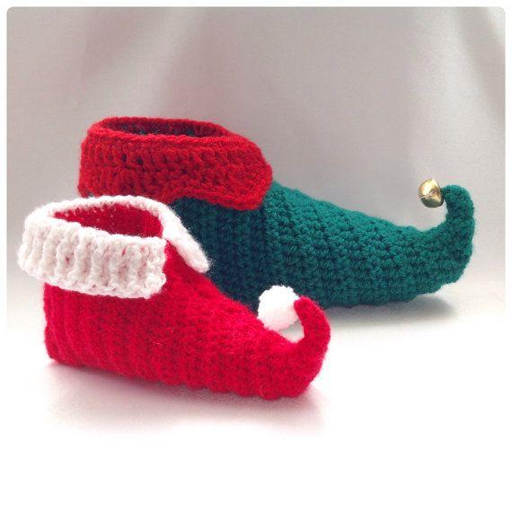 Curly Toes Elf Slipper Shoes Crochet PDF von HookedoPatterns