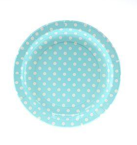 24 Sambellina Polka-dot Blue Paper Plates - All the blues party packs $105 http://www.strawberry-fizz.com.au