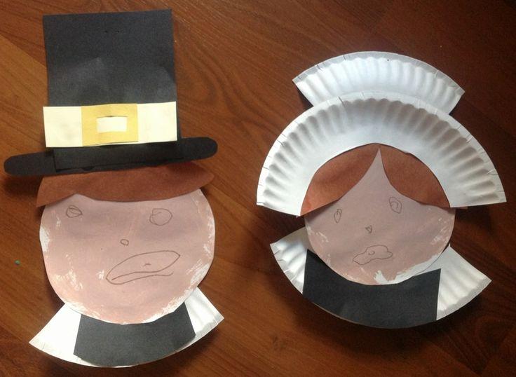 Paper Plate Pilgrim Thanksgiving Craft for Kids