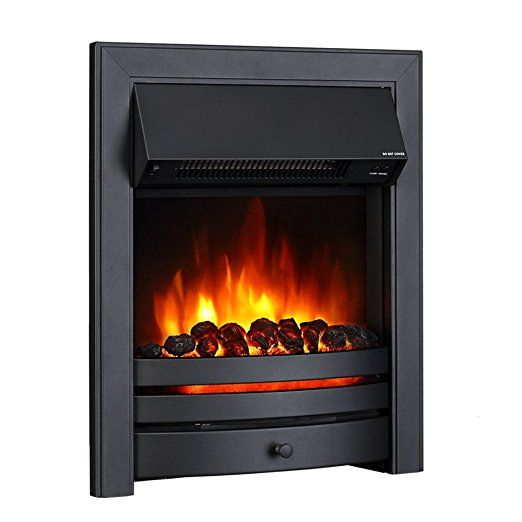 Endeavour Fires Roxby Inset Electric Fire, Black Trim and Fret, 220/240Vac 1&2kW, Remote control