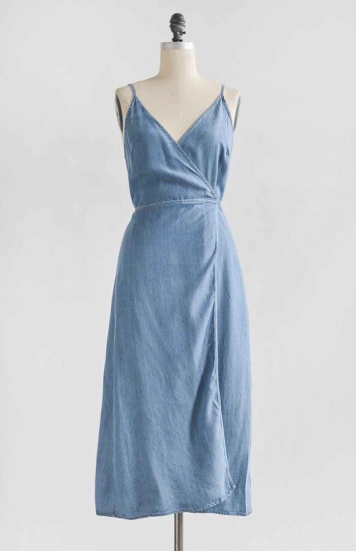 74fc777b50e4 Feminine Vintage Inspired Dresses / Chambray Wrap Sundress / A Fine Day  Dress #bestfitness