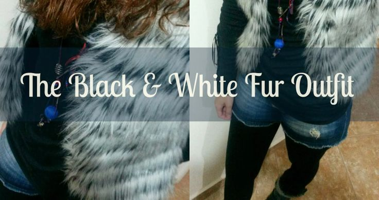 Lina's Daily: My black & white fur outfit