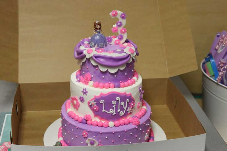 Sofia The First Birthday Cake Lily Birthday Party