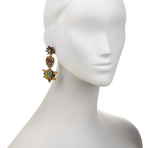 "deepa by Deepa Gurnani® ""Bobbi"" Beaded Triple Drop Earrings"