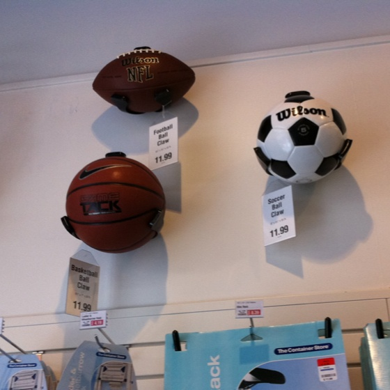 The Container Store Display For Ball Storage   Garage