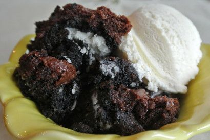 What is more sinful that chocolate? When it comes in the form of a gooey brownie over rich Oreos and topped with vanilla ice cream, I would say nothing in the food world can be more sinful. This dessert is perfect for camping trips or back yard parties. The texture of the brownie is devilishly gooey and full of fudge goodness. S'mores? Who needs them when you have Original Sin!