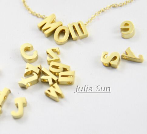 Slide alphabet bead,quality Copper slide charms ,lowercase letter,Matte gold plated,for necklace making 10Pcs mix ( MS1455)-in Charms from Jewelry on Aliexpress.com | Alibaba Group