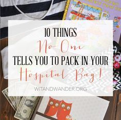 "These 10 Things No One Tells You to pack in your Labor & Delivery Hospital Bag will help you know how to pack a hospital bag and get your pregnancy hospital bag prepared. Have you ever asked, ""What should I pack in my maternity hospital bag?"" When we were preparing to head to the hospital for labor and delivery, I looked up several lists that featured"