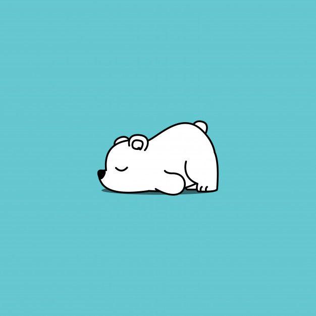 Lazy Polar Bear Cartoon Vector Illustration Polar Bear Cartoon Cute Cartoon Wallpapers Cute Panda Wallpaper