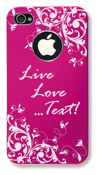Scrolling Vine iPhone 4/4S Case - You choose the font! - iEngravedit.com