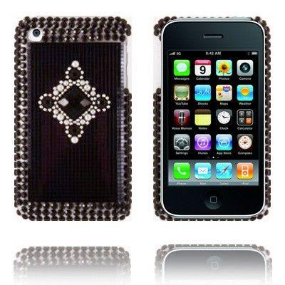 Royal Bling (Harmaat/Mustat Jalokivet) iPhone 3 Suojakuori