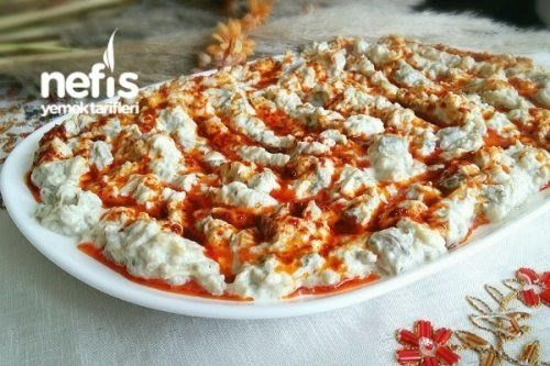 Labneli Köz Patlıcan Salatası (Muhteşem Lezzet) Tarifi