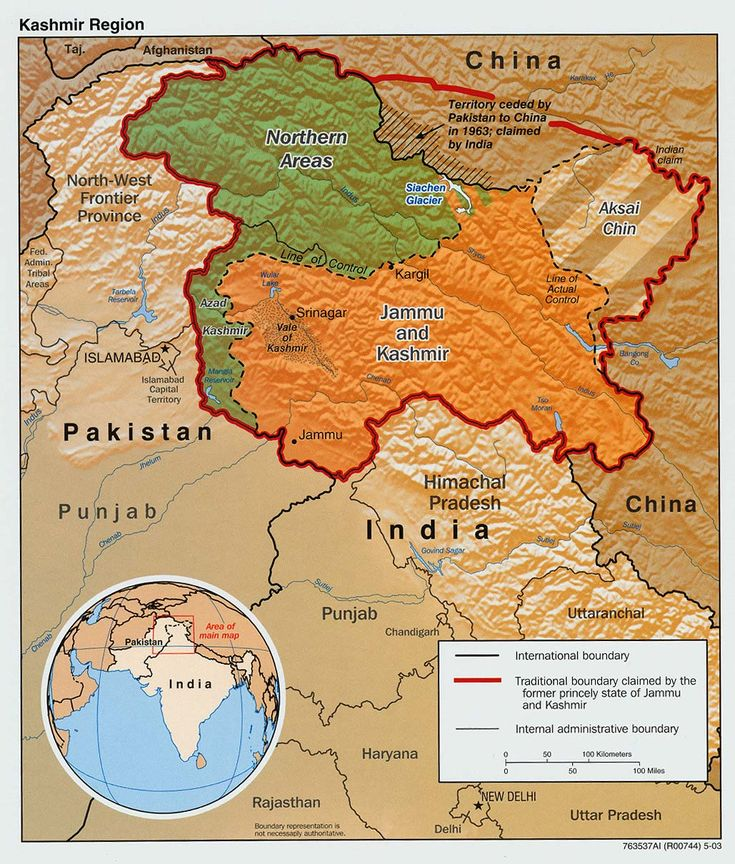 Kashmir Region  Disputes INDIA / PAKISTAN / CHINA