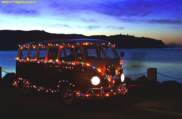 merry christmas VW van. Credit in the next comment.