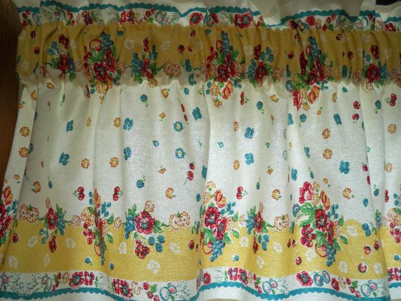 Great Kitschy Kitchen Vintage 50s Window Valance Cherries Apples Fruit Pyrex  Fabric. $29.99, Via Etsy. | For The Home | Pinterest | Valance, Pyrex And  Window