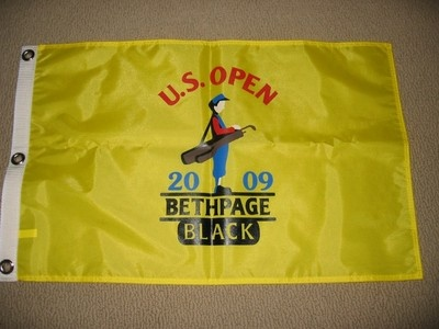 2009 US OPEN Golf Flag, Bethpage Black, Pin YELLOW Home of the 02 & 09 US OPEN