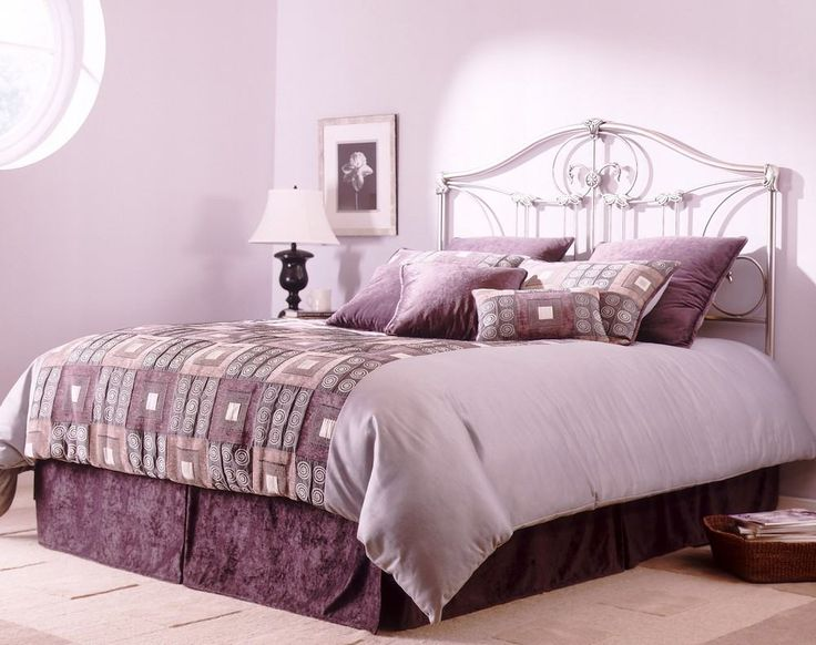 A Collection Of Purple Bedroom Design Ideas Awesome Light Walls Decorating With Cozy Bed And Round Window