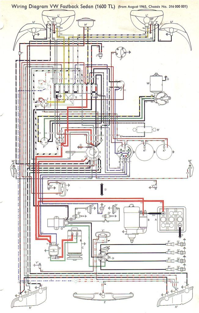 Vw Type 3 Wiring Diagrams In Vw Diagram In 2003 Vw Passat Wiring Diagram Vw Bug Vw Parts Vw Beetle Classic