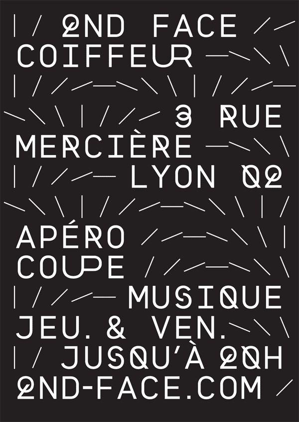 Superscript² - Affiche, annonce presse pour le salon de coiffure Second Face. Lyon
