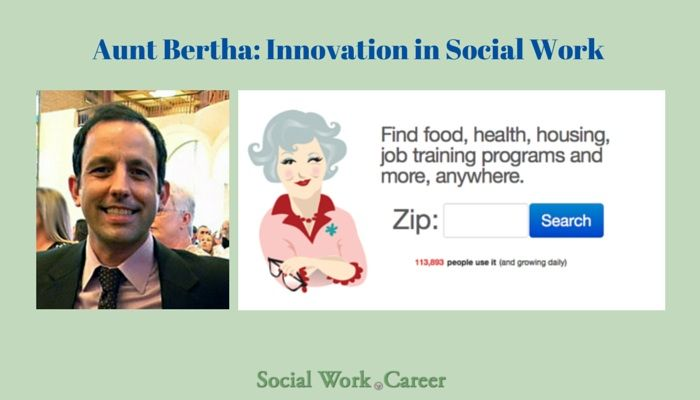 Aunt Bertha provides free access to social workers, advocates and those in need looking for food, health, housing & other social services across the U.S.