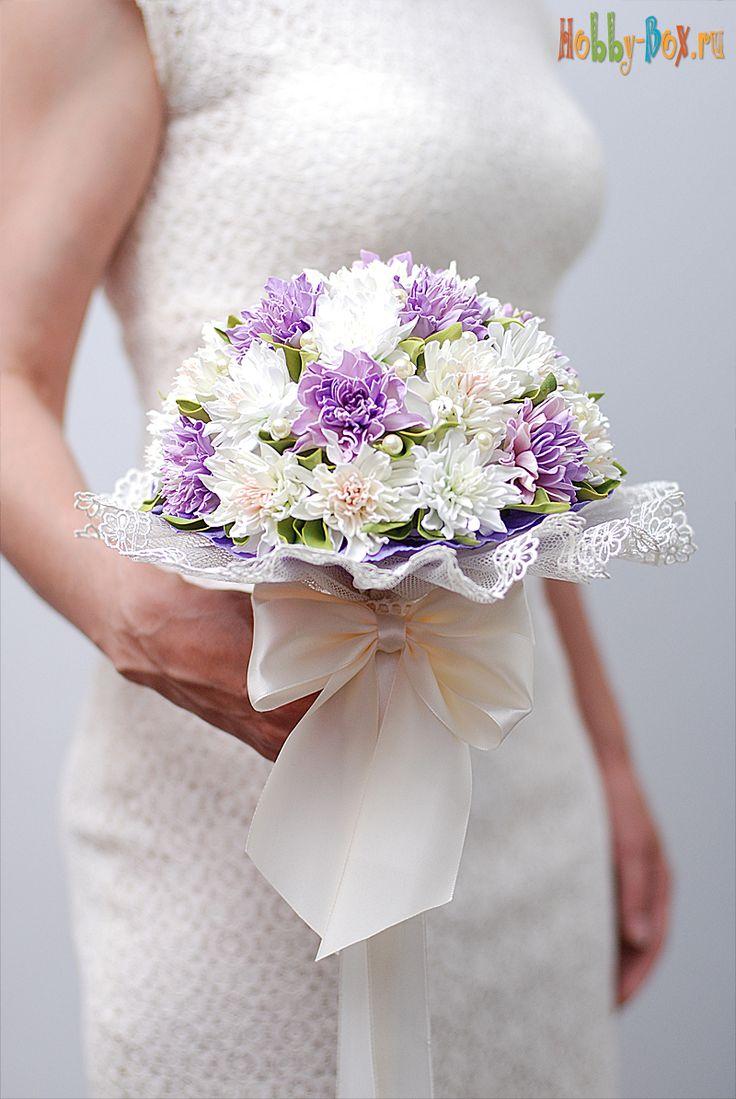 Букет невесты из фоамирана. Свадебный букет хризантем - Hobby-Box.ru