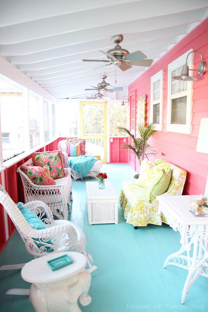 House of Turquoise: Sundew Cottage - Tybee Island, GA | Radial Wave Sconces
