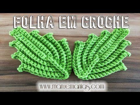 FOLHA Fácil em Crochê por Neila Dalla Costa - YouTube