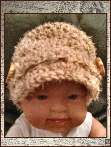 Crochet Newborn Newsboy Hat with Wooden Buttons  by PostsNPurls, $20.00