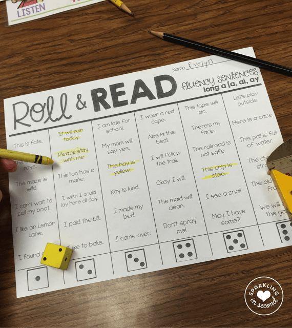 Roll & Read Fluency-Sparkling in Second Grade