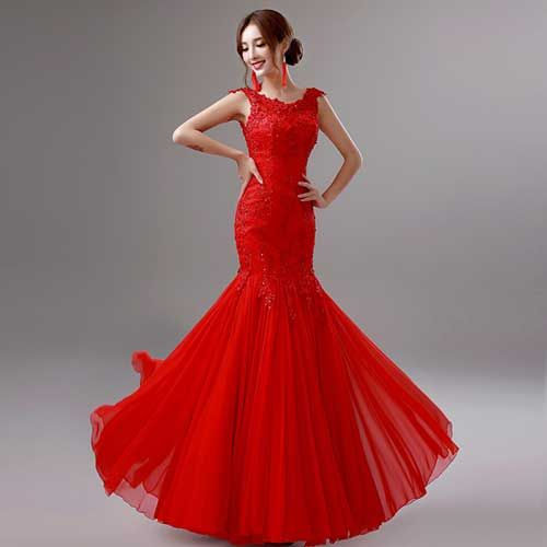 40 Modelos de Vestidos de Noiva Vermelho para Casar