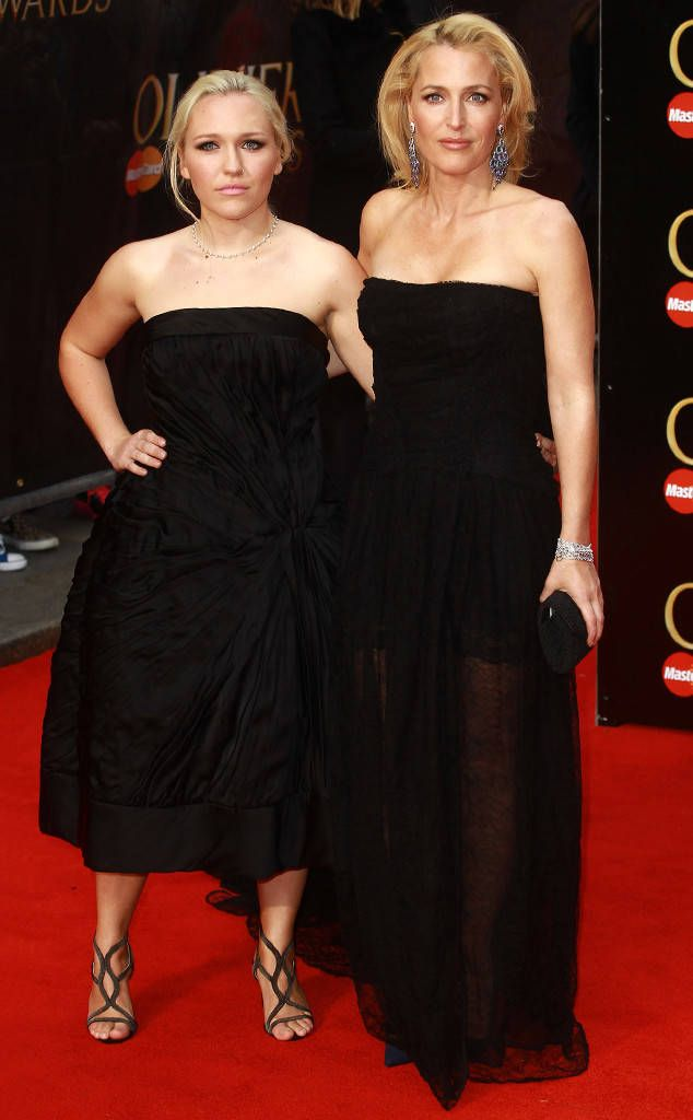 Gillian Anderson & Piper Maru Klotz from Stars & Their Mini-Me Kids  The two stunned on the red carpet at the Olivier Awards in London.