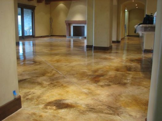Concrete Floor House How To Stain Floors In For The Home Painted