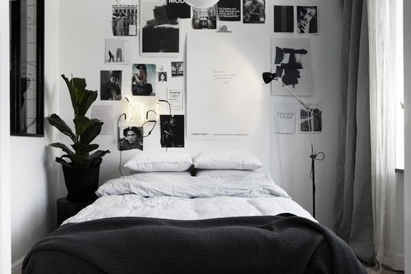 Fresh tumblr bedroom inspiration with inspirational for Black white and grey room decor