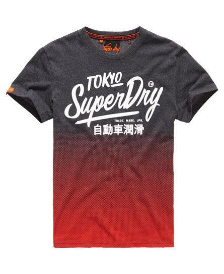 Superdry Ticket Type T-Shirt in Black Concrete Marl